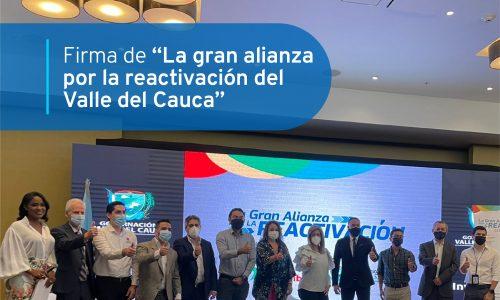 """LA FIRMA DE """"LA GRAN ALIANZA POR LA REACTIVACIÓN DEL DEPARTAMENTO"""