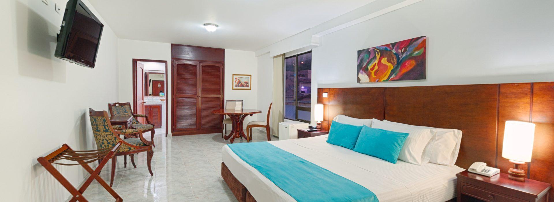 El Hotel Granada Real en la ciudad de Cali ofrece 6 tipos de acomodaciones en 59 habitaciones.